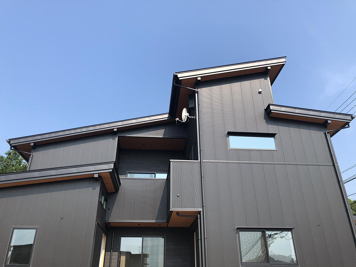 2階の居心地を追求した住宅-高知市鳥越 T様 外観写真